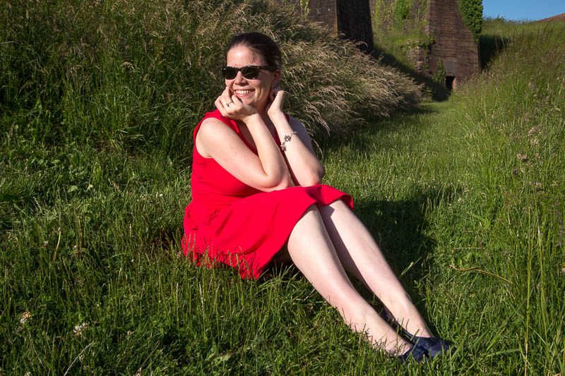 Robe Moneta rouge-6